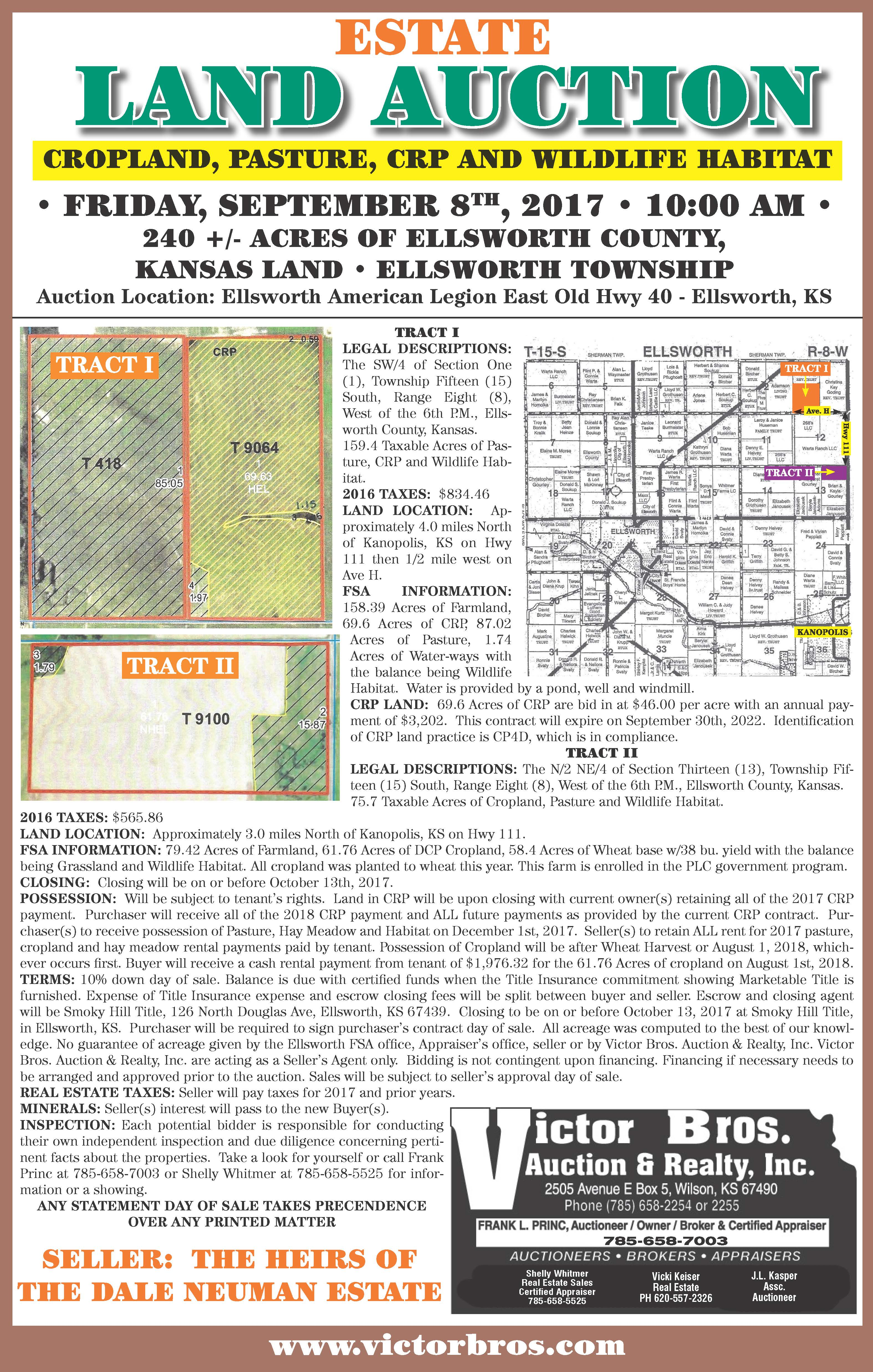 Dale Neuman Land Auction